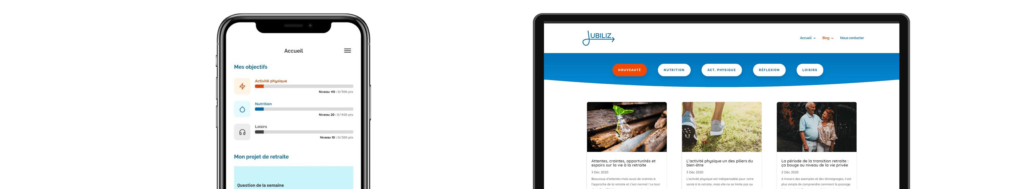 L'interface personnelle et le blog Jubiliz